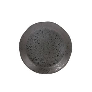 Farfurie gri din ceramica 21 cm Bold and Basic Grey HK Living