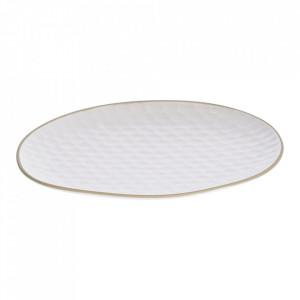 Farfurie intinsa alba din ceramica 25x27 cm Manami Kave Home