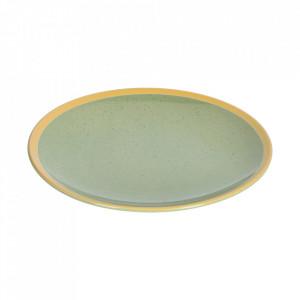 Farfurie intinsa verde deschis din ceramica 28 cm Tilla Kave Home