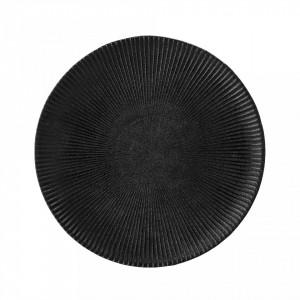 Farfurie neagra din ceramica 23 cm Bloomingville