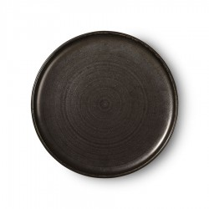 Farfurie neagra din portelan 26 cm Kyoto Rustic Dinner HK Living