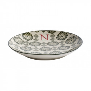 Farfurie pentru desert multicolora din ceramica 20 cm N Letter Nordal
