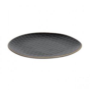 Farfurie pentru desert neagra din ceramica 21x22 cm Manami Kave Home