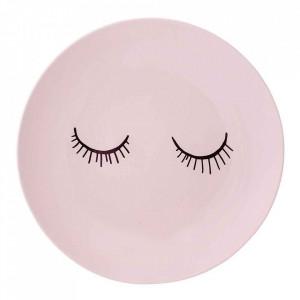 Farfurie roz din ceramica 20 cm Audrey Bloomingville