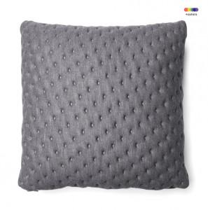 Fata de perna gri grafit din textil 45x45 cm Mak Moncel La Forma