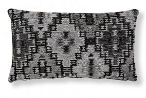 Fata de perna gri/neagra din textil 30x50 cm Cuzco Combination Dark Grey La Forma