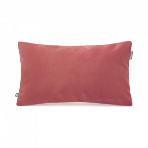 Fata de perna roz somon din catifea 30x50 cm Mood Mumla