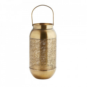 Felinar auriu din fier 26 cm Casablanca Madam Stoltz