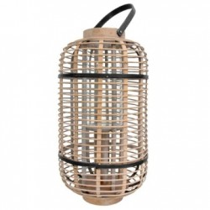 Felinar din bambus si sticla 48 cm Lantern HK Living