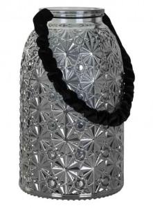Felinar din fier si sticla 24 cm Livia Richmond Interiors
