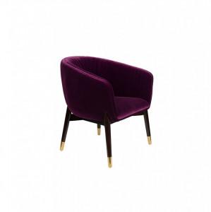 Fotoliu din catifea mov Dolly Purple FR Dutchbone