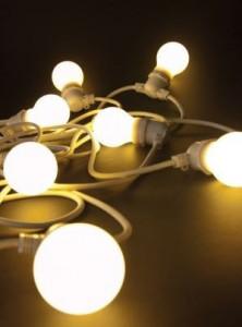 Ghirlanda luminoasa alba cu 10 becuri LED 14,2 m Bellavista White Seletti