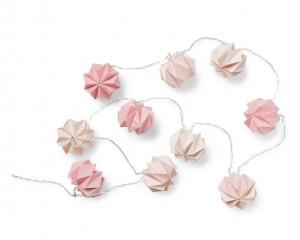Ghirlanda luminoasa din hartie cu 10 LED-uri Origami Mix Rose Cam Cam