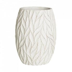 Ghiveci alb din ciment 19,5 cm Ethopa Ixia