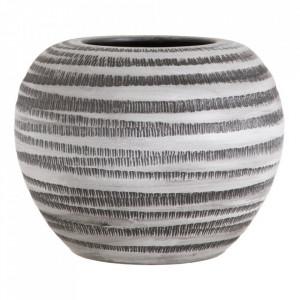 Ghiveci alb/negru din ceramica 35 cm Marinas Ixia