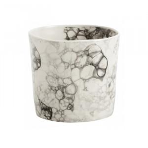 Ghiveci alb/negru din ceramica 8 cm Miller Nordal