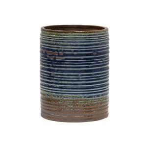 Ghiveci ceramica albastru/maro 20 cm Flower HK Living