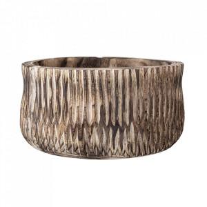 Ghiveci decorativ maro din lemn de paulownia 40 cm Ramonne Creative Collection