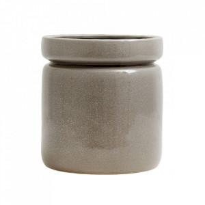 Ghiveci gri din ceramica 25 cm Isa Big Nordal
