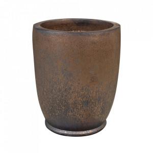 Ghiveci maro bronz din teracota 53 cm Fiona Versmissen