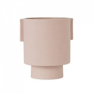 Ghiveci roz din ceramica 15 cm Inka Kana Oyoy