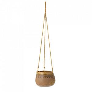 Ghiveci suspendabil maro din ceramica 15 cm Ibina Creative Collection