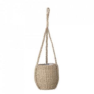 Ghiveci suspendabil maro din iarba de mare si plastic 20 cm Jess Bloomingville
