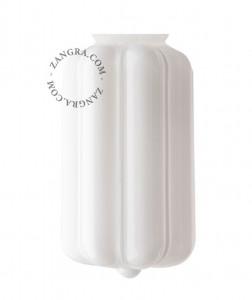 Glob alb din sticla 16 cm Johnston Zangra