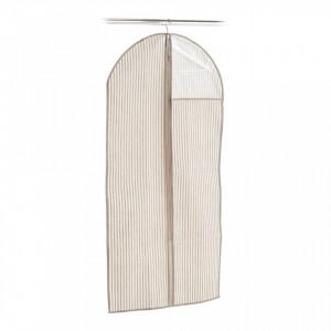 Husa bej din fleece pentru haine Coat Hanger Window Stripes Zeller
