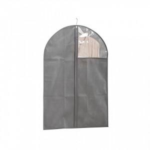 Husa gri din fleece pentru haine Coat Hanger Window Zeller