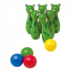 Joc bowling din lemn Frog Small Foot