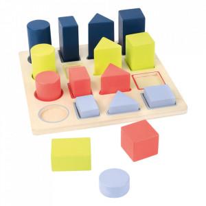 Jucarie de potrivire a formelor din lemn Educate Small Foot