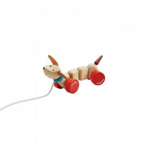Jucarie de tras multicolora din lemn Puppy Plan Toys