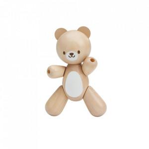 Jucarie maro din lemn Bear Plan Toys