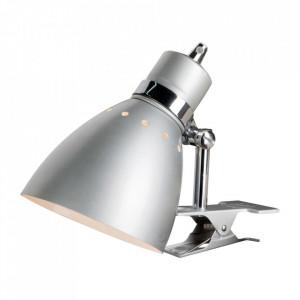 Lampa birou argintie din metal 22 cm Spring Steinhauer