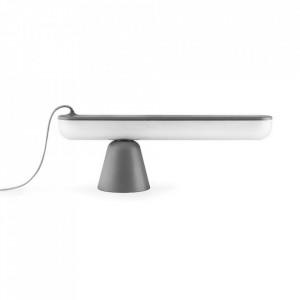 Lampa birou gri din plastic acrilic cu LED 16 cm Acrobat Normann Copenhagen