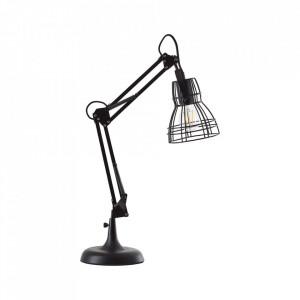 Lampa birou neagra din metal 63 cm Escaton Brilliant