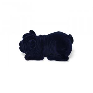 Lampa de veghe albastra din rasina Devilisch Bulldog Light Blue Bold Monkey