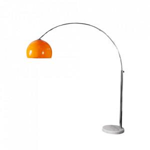 Lampadar ajustabil portocaliu din marmura si plastic 175-205 cm Big Bow Invicta Interior