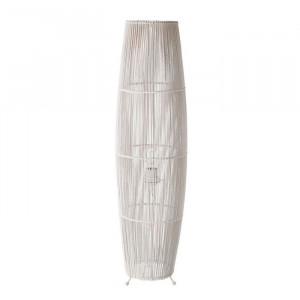 Lampadar alb din bambus si fier 88 cm Chapman Unimasa