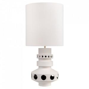 Lampadar alb din textil si ceramica cu 2 becuri 98 cm Unfo Versmissen