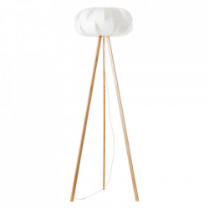Lampadar alb/maro din plastic si lemn 150 cm Addi Brilliant