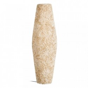 Lampadar crem din bumbac si plastic 80 cm Padia Ixia