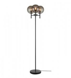 Lampadar gri fum/negru din sticla si metal cu 3 becuri 147 cm Crown Markslojd