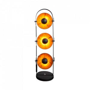 Lampadar negru/auriu din inox cu 3 becuri 130 cm Studio Invicta Interior