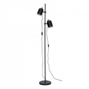 Lampadar negru cu 2 becuri Cilinder Hubsch