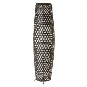 Lampadar negru din fier si bambus 88 cm Norm Unimasa