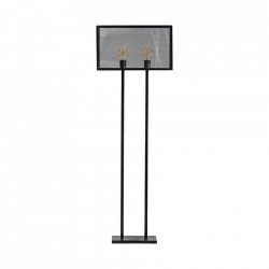 Lampadar negru/maro din MDF si fier cu 2 becuri 151 cm Carluke Vical Home
