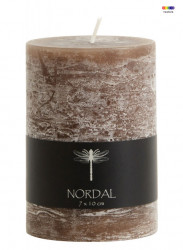 Lumanare maro din parafina 10 cm Brown Candle Nordal