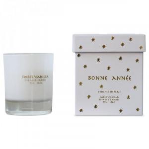 Lumanare parfumata cu suport alb din sticla 9 cm Anja Opjet Paris